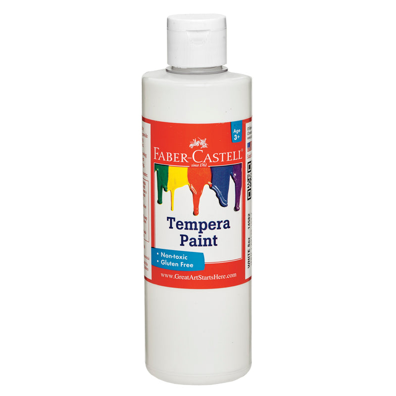 White Tempera Paint (8 oz. bottles) - #14582