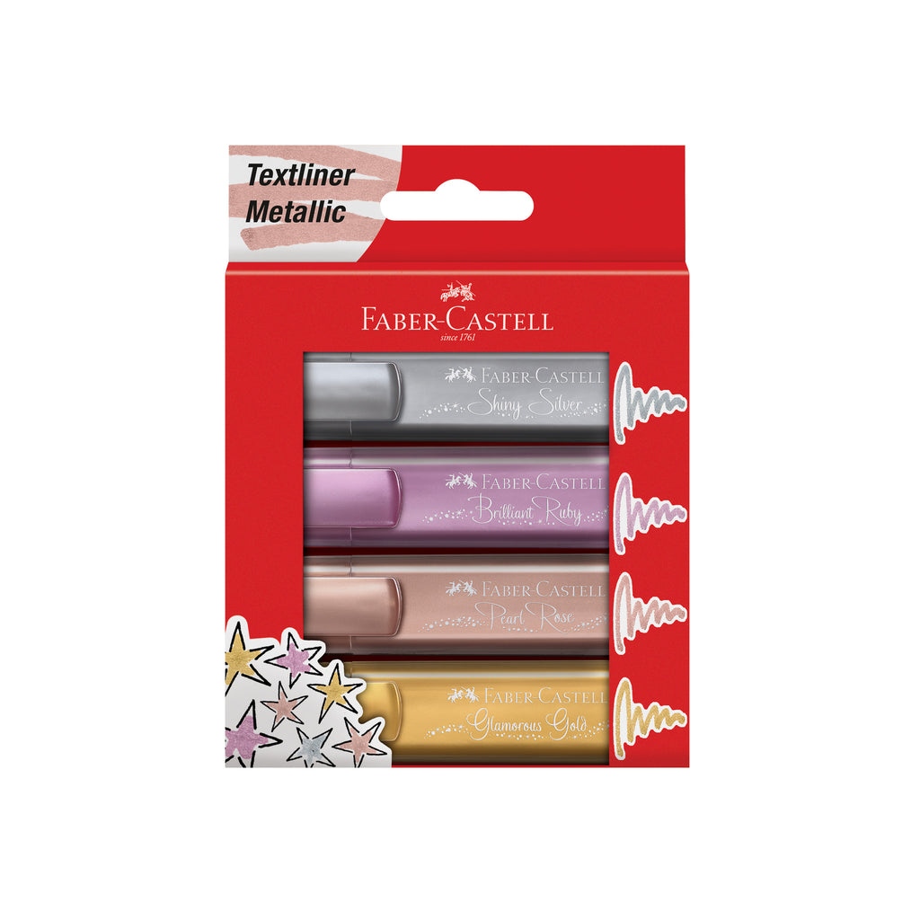 Highlighter Textliner 46 Wallet of 4 Metallic Colors - #154640
