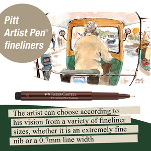 Pitt Artist Pen® Dark Sepia - Wallet of 4  - #167101