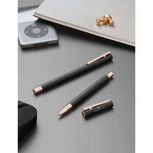 NEO Slim Rollerball Pen - Black Matte and Rose Gold - #343114