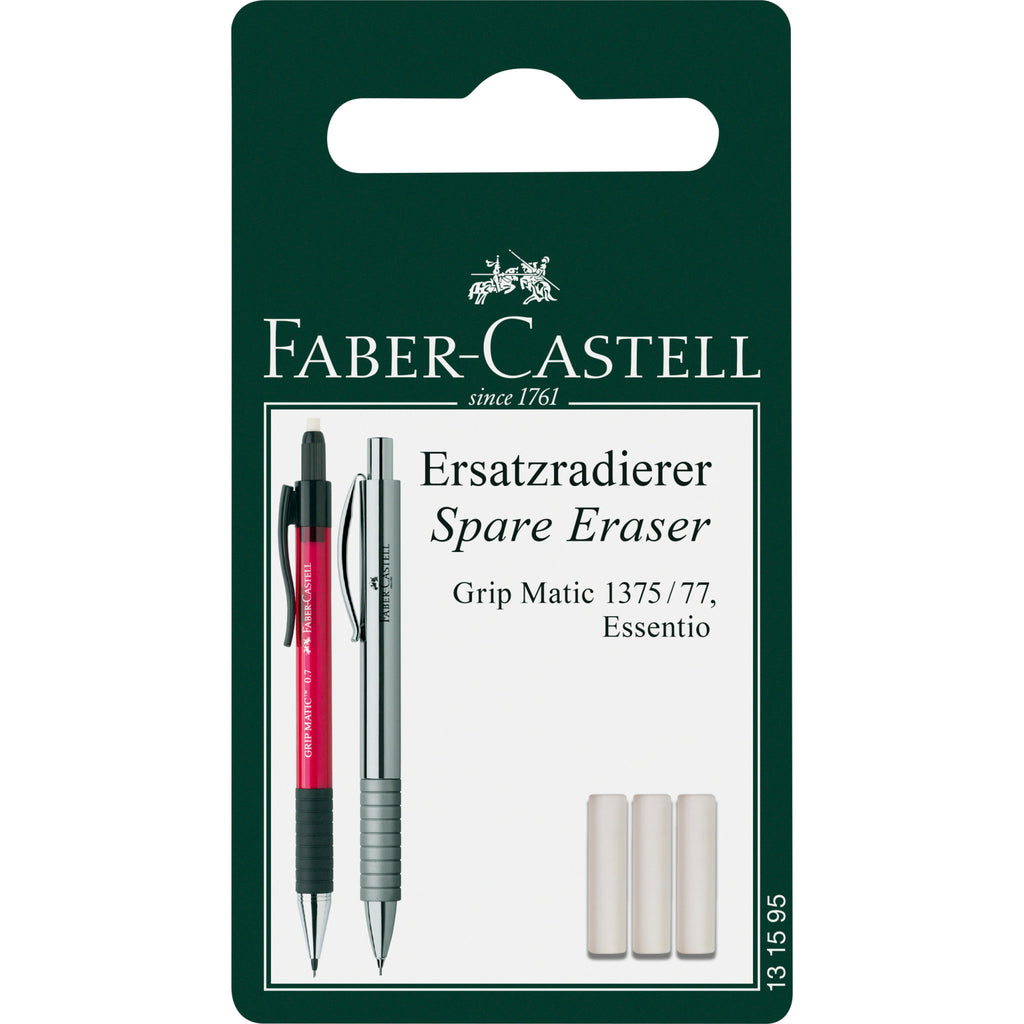 Eraser Refill 3 Pack for Essentio and Grip Plus Mechanical Pencils