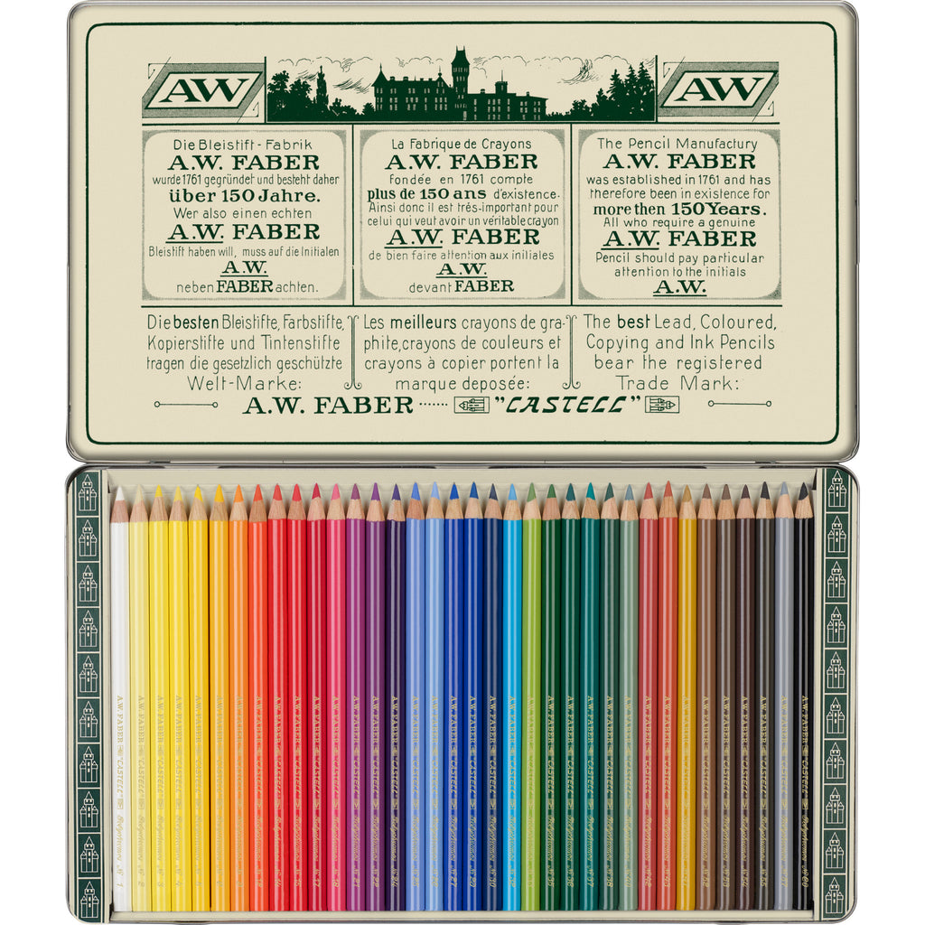 Polychromos® Artists' Color Pencils - 111th Anniversary Limited Edition Tin of 36 - #211003