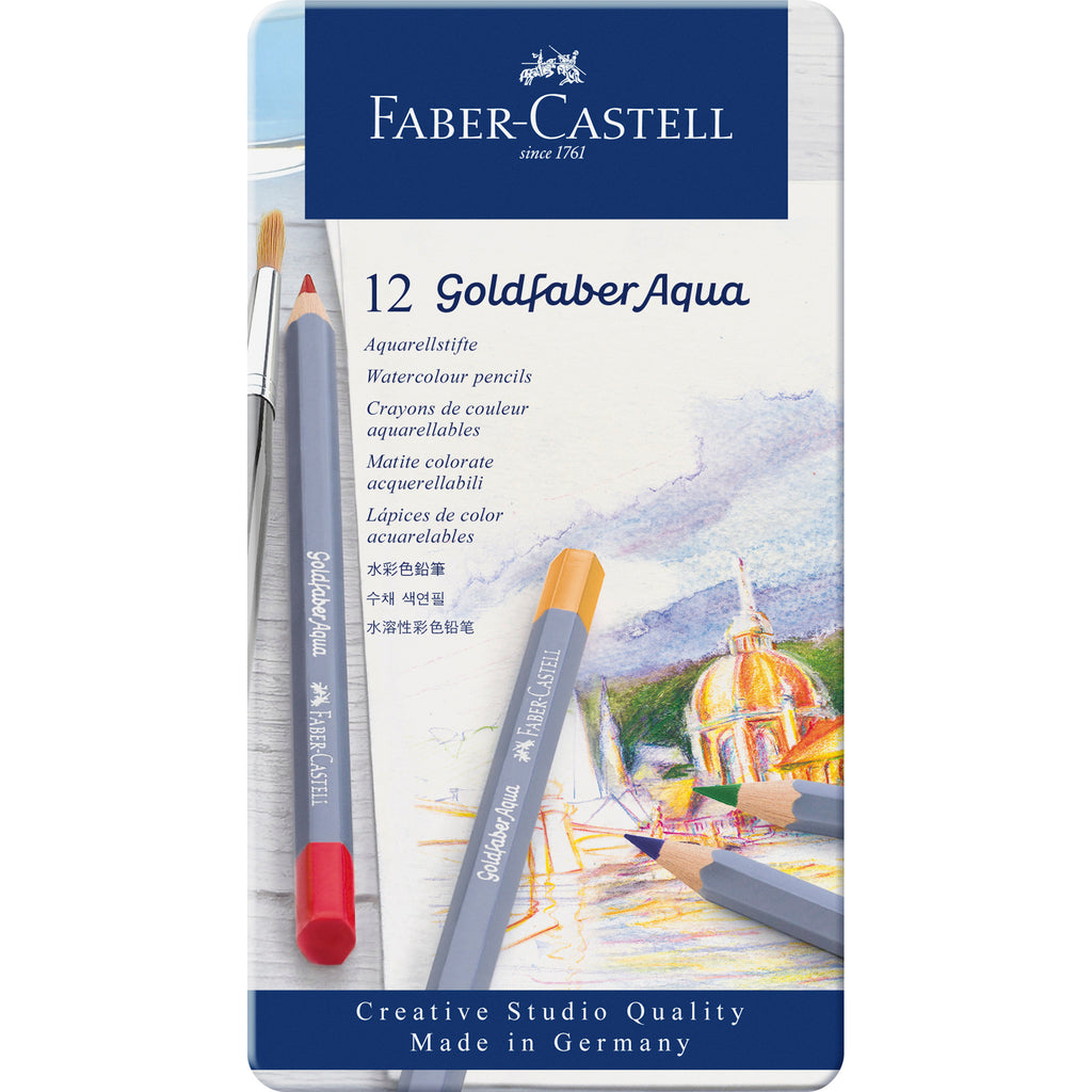 Goldfaber Aqua Watercolor Pencils - Tin of 12 - #114612