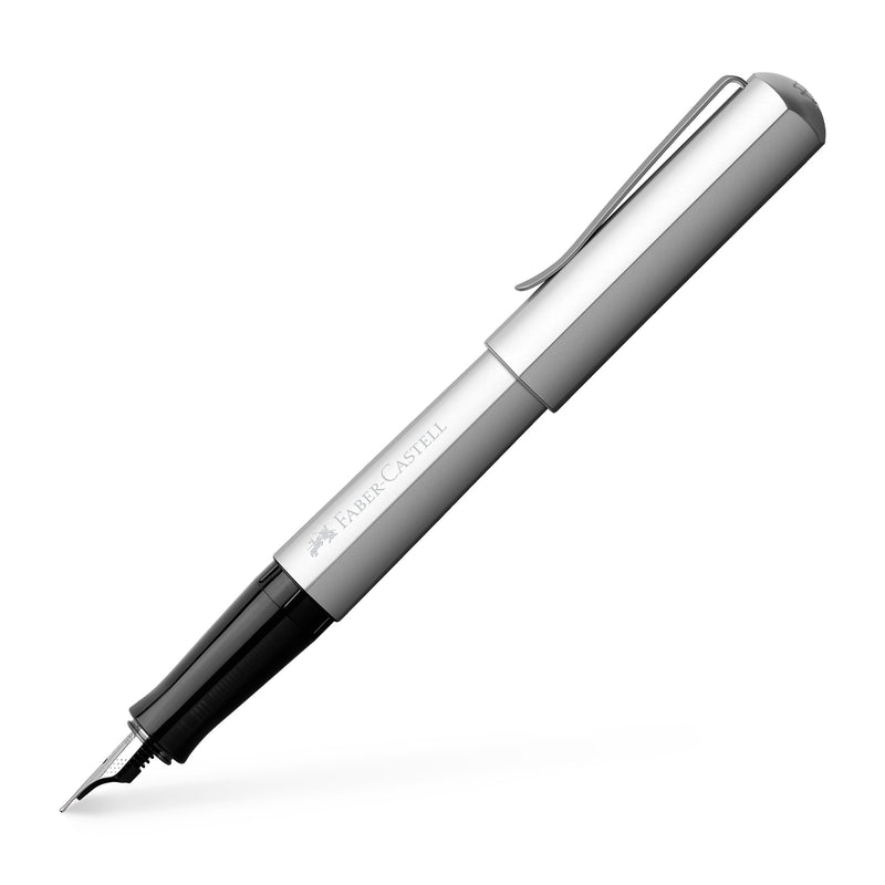 Hexo Fountain Pen, Silver - Broad - #150513