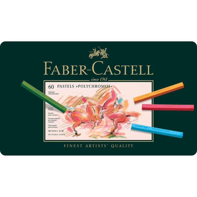 Polychromos® Artists' Pastel Crayons - Tin of 60
