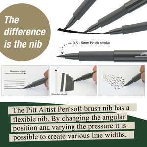 Pitt Artist Pen® Soft Brush - Wallet of 8 - #167808
