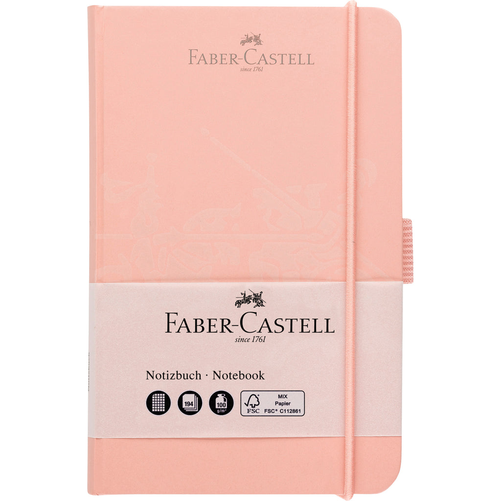 "Notebook A6 4.1"" x 5.8"" Squared Paper - Antique Pink - #10020504"