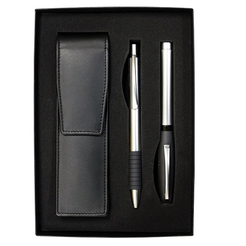 Essentio Matte Metal Medium Fountain Pen, & Ballpoint Gift Set