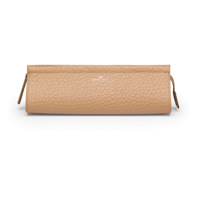 Leather Accessory Case, Beige - Large - #189329