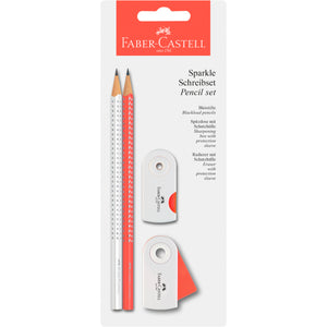 Sparkle Pencil Set - Coral