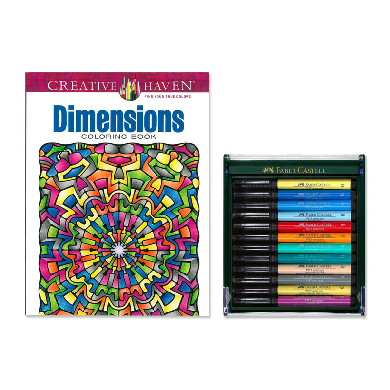 Dimensions Coloring Book with Pitt Artist Pens  - #800129