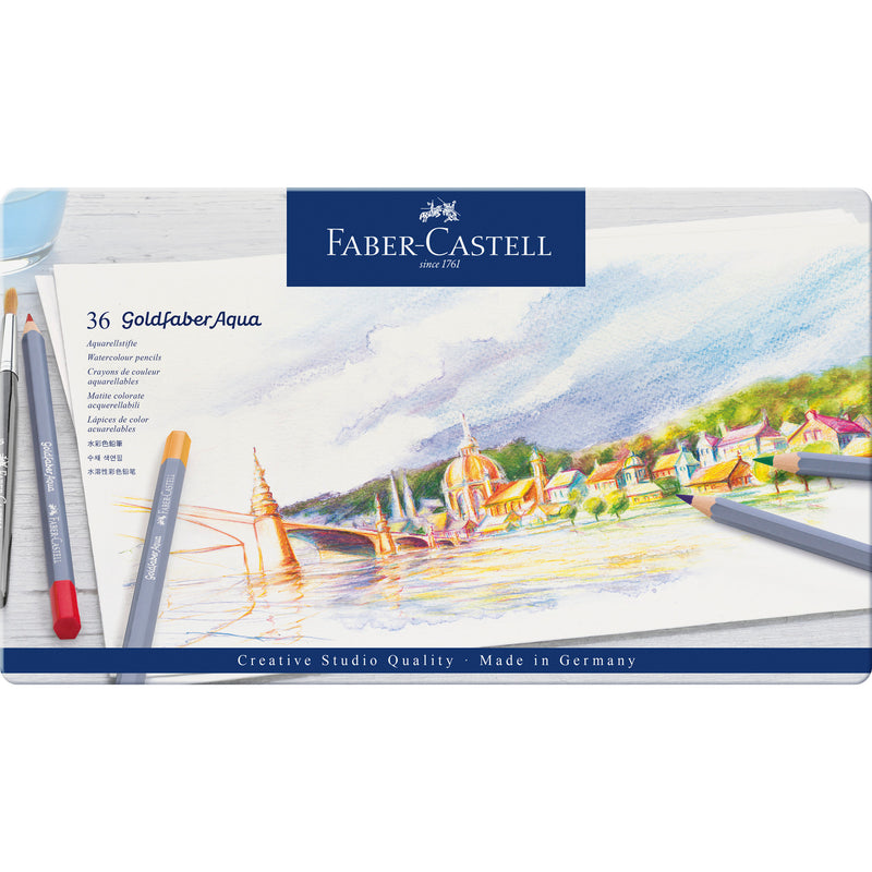 Goldfaber Aqua Watercolor Pencils - Tin of 36 - #114636