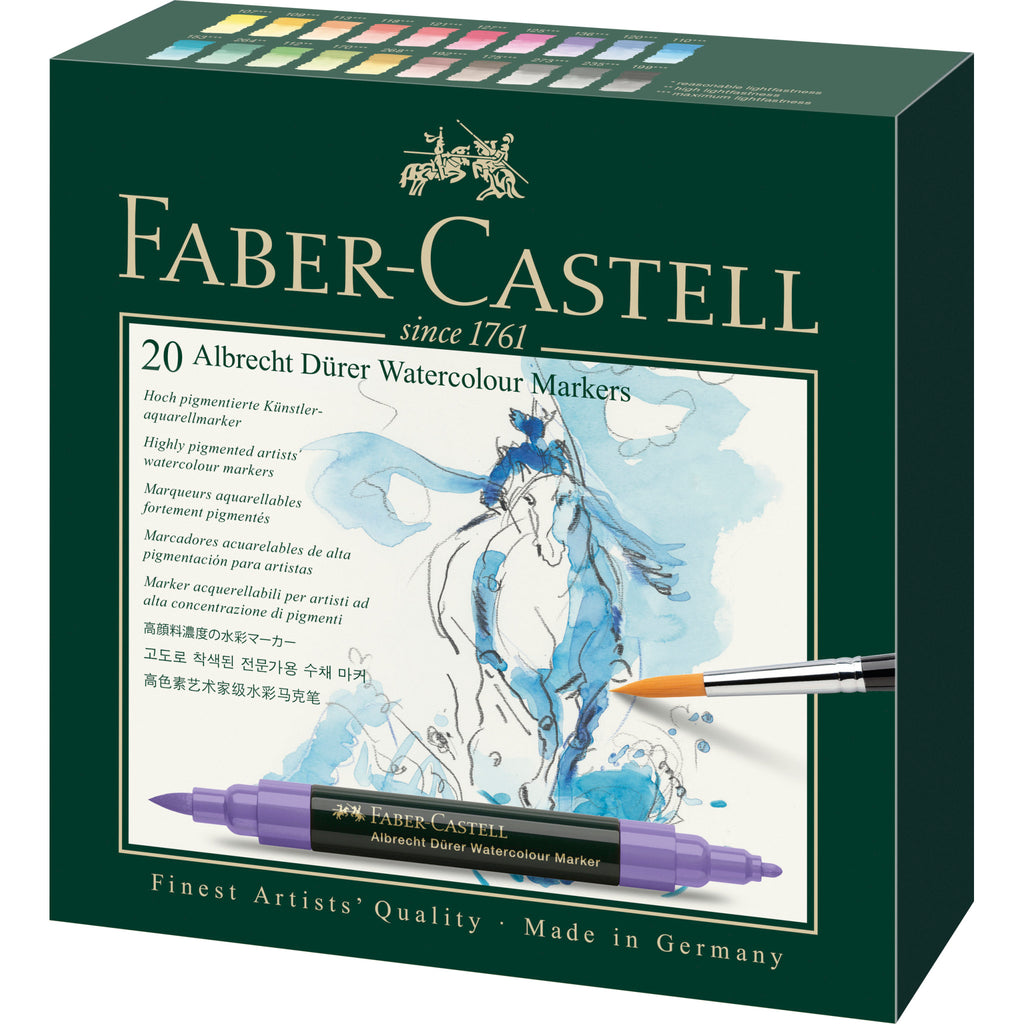 Albrecht Dürer® Watercolor Markers - Gift Box of 20 - #160320