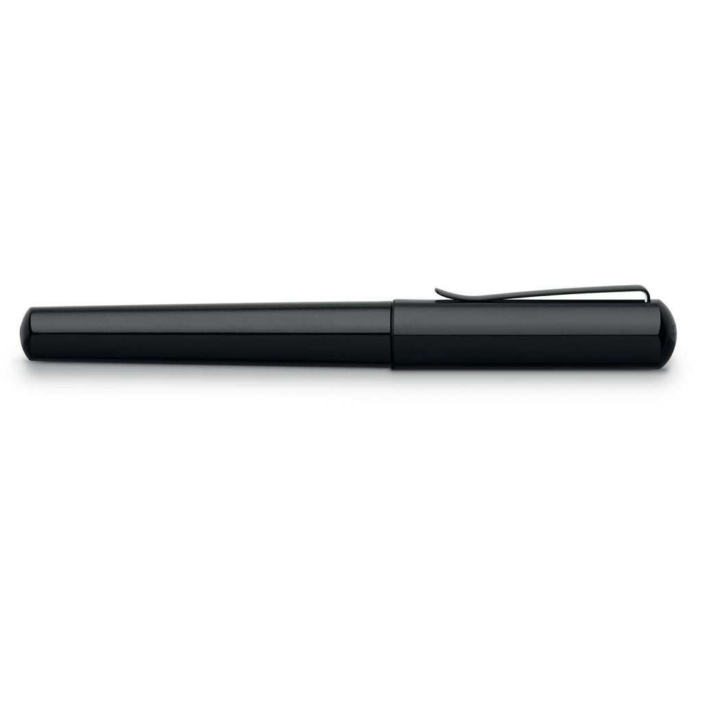 Hexo Fountain Pen, Black -  Medium - #150500