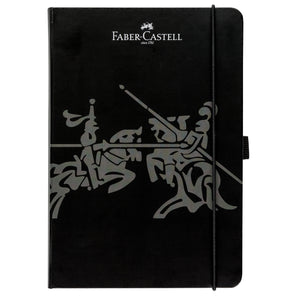 "Notebook A5 5.8"" x 8.3"" Square Paper - Black - #10020500"