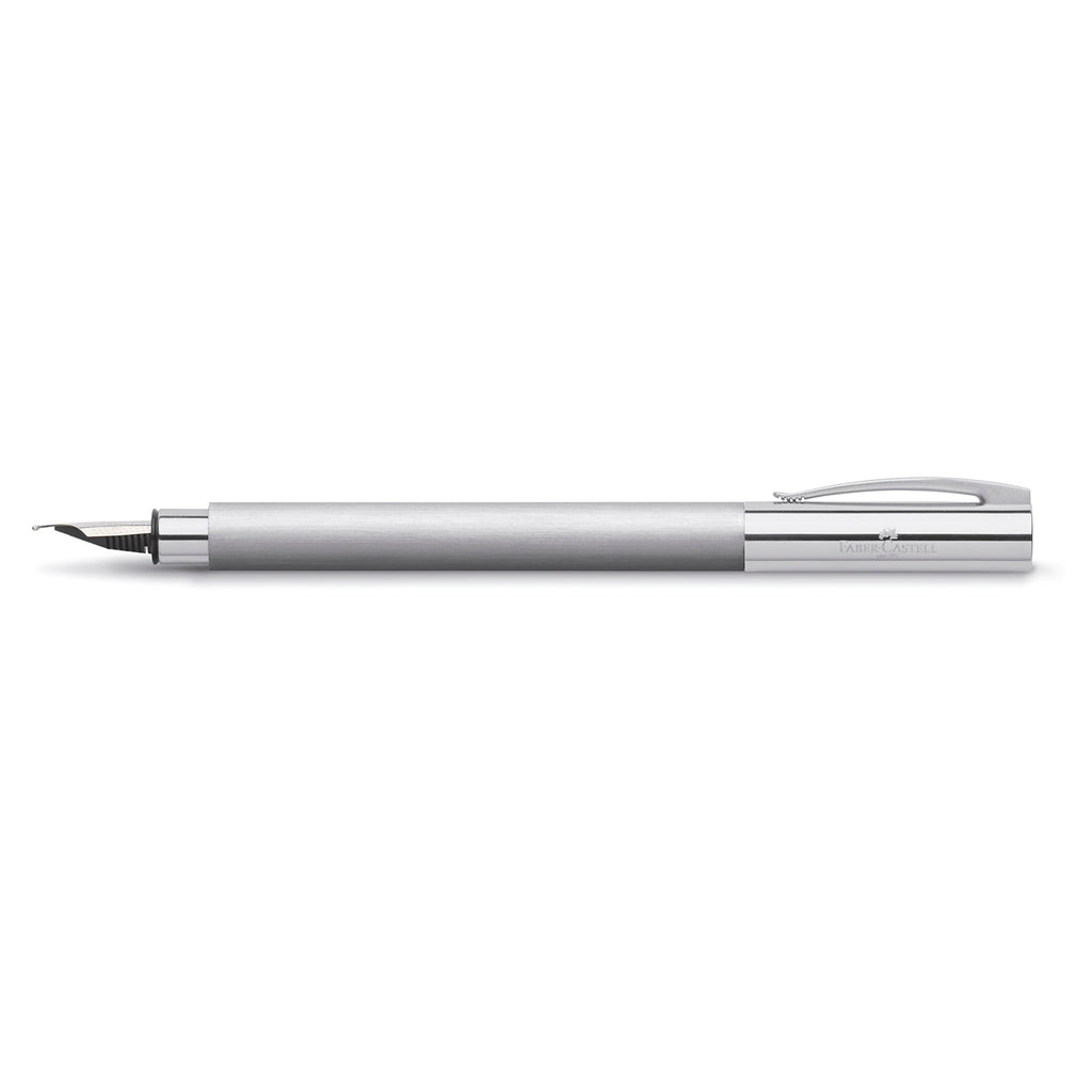 Ambition Fountain Pen, Stainless Steel - Broad - #148393