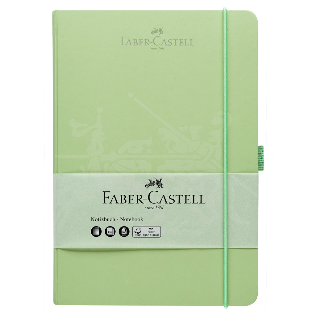 "Notebook A5 5.8"" x 8.3"" Square Paper - Mint Green - #10020501"