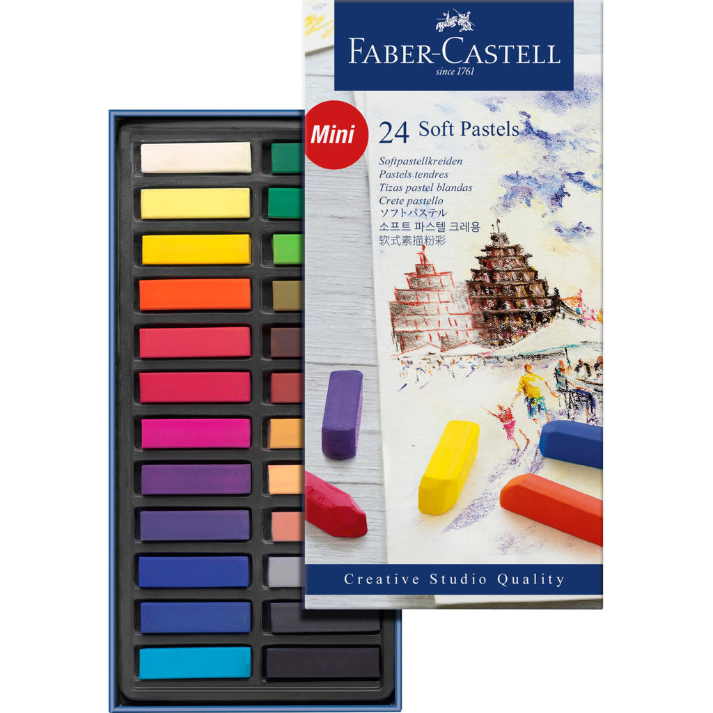 24ct Soft Pastels Soft Pastel Half Length Sticks - Box of 24