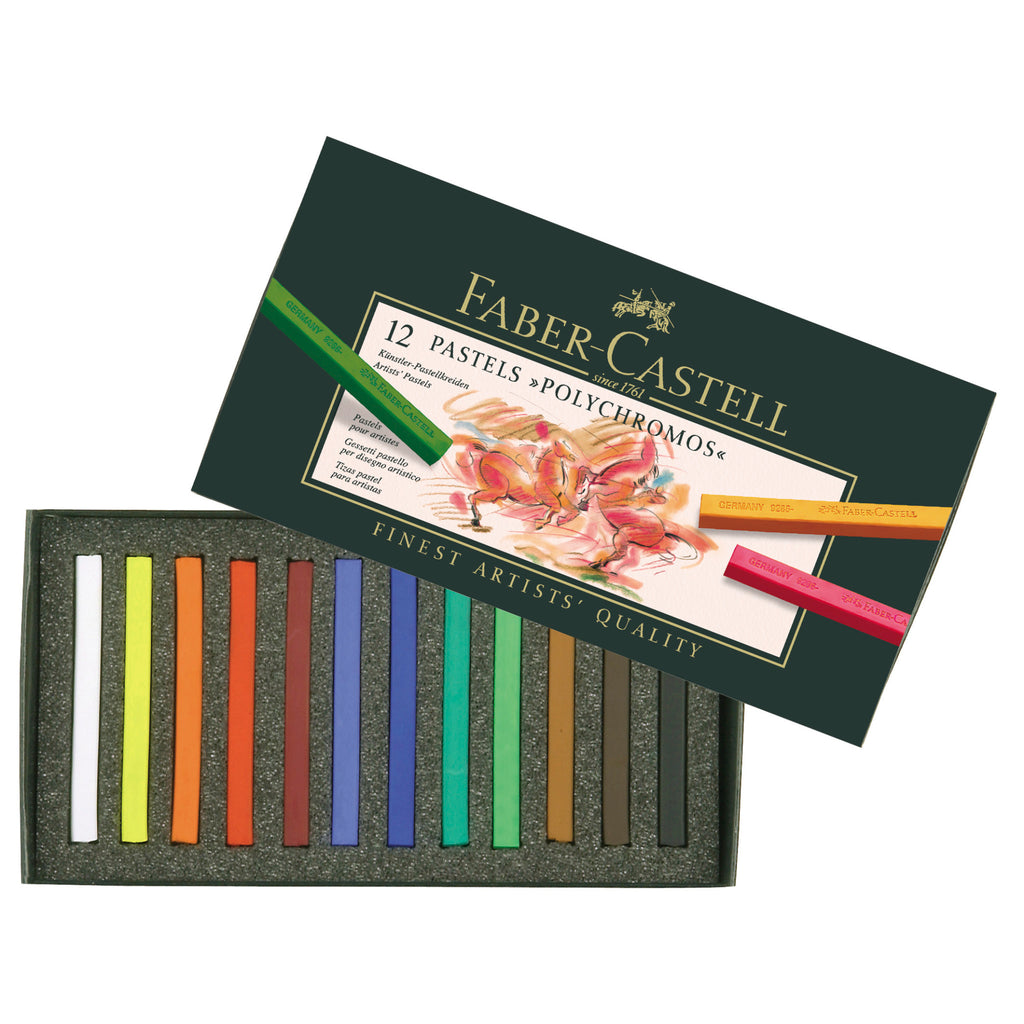 Polychromos® Artists' Pastel Crayons - Box of 12 - #128512