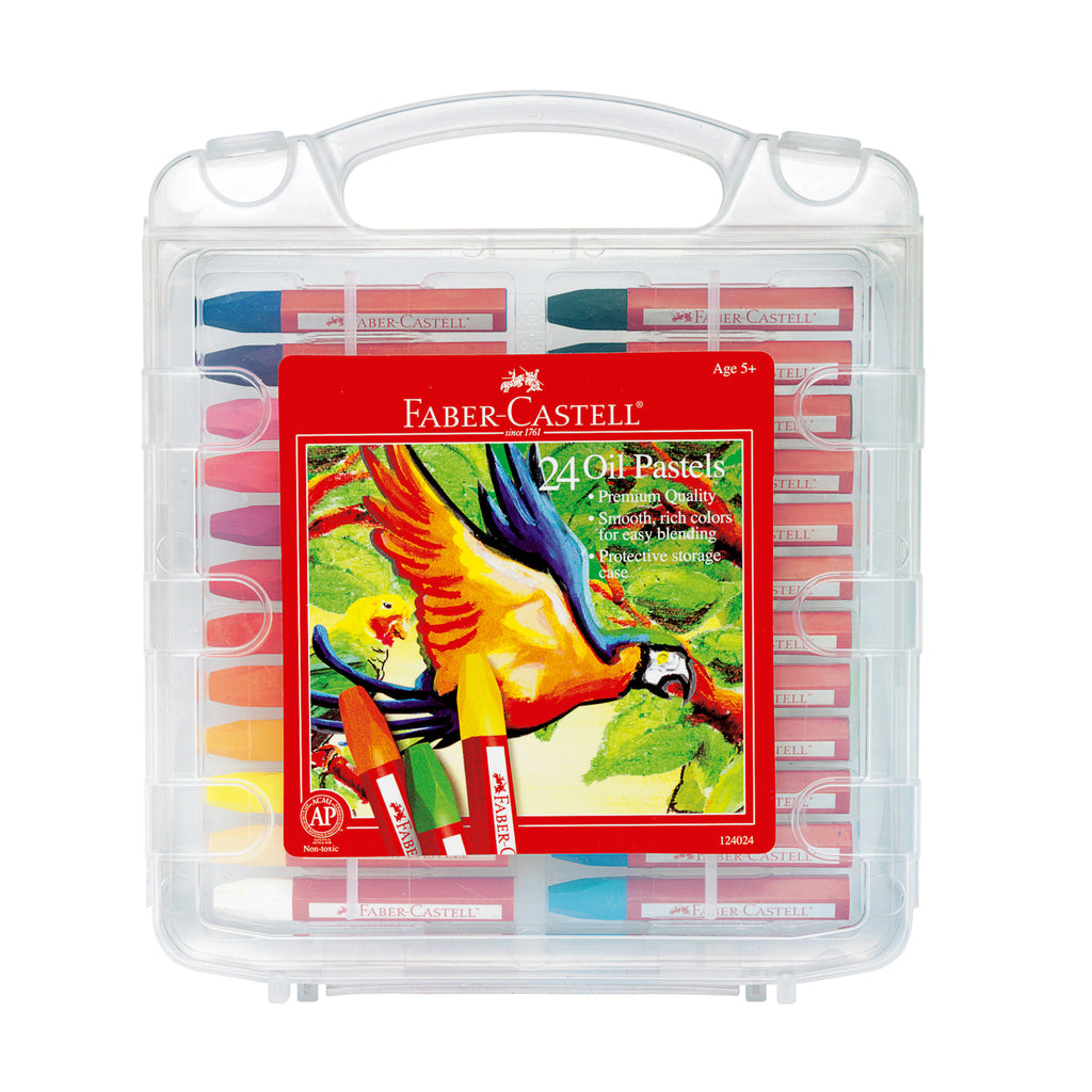 24 Oil Pastels in Storage Case - #124024