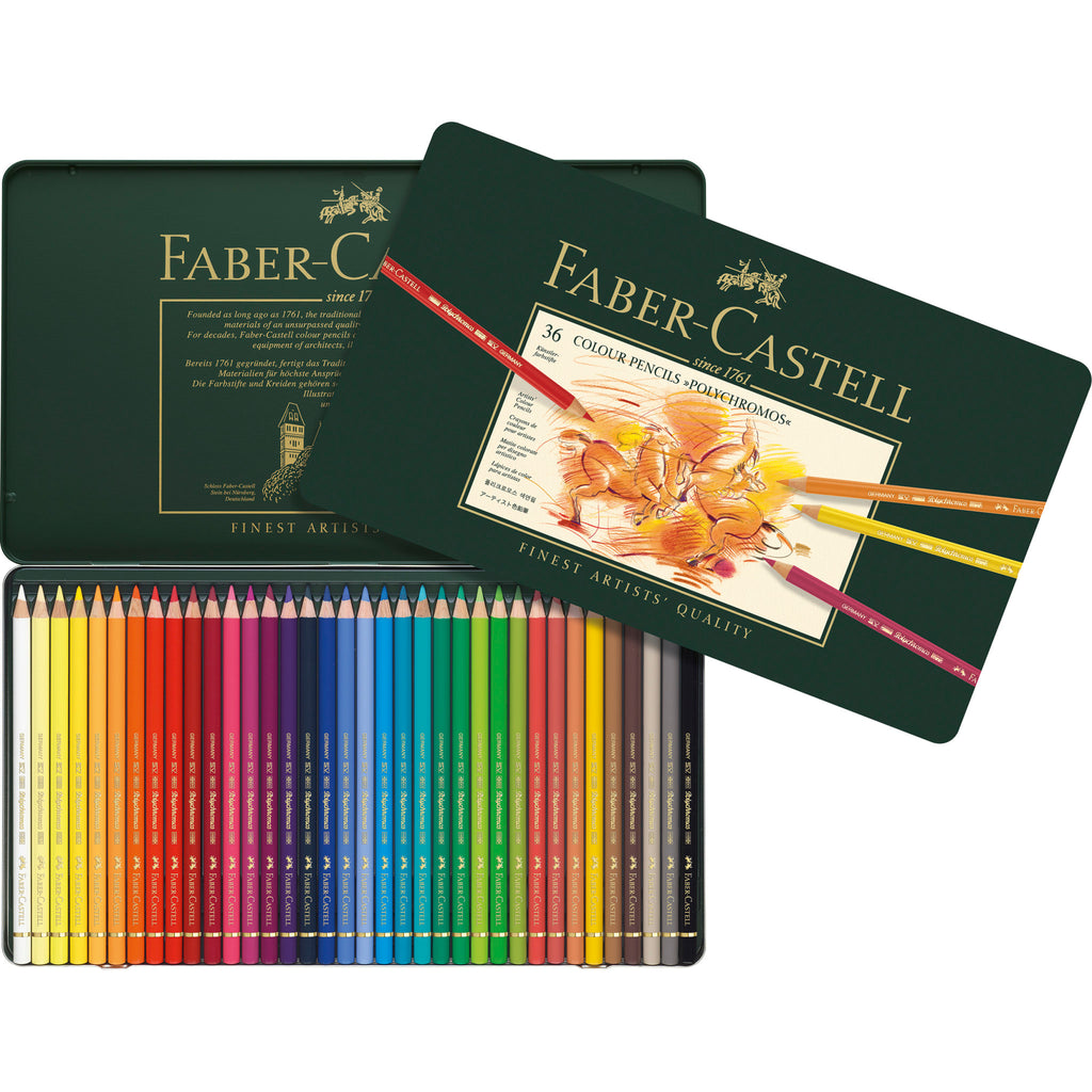 Polychromos® Artists' Color Pencils - Tin of 36