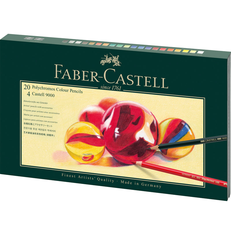 Polychromos® Artists' Color Pencils - 26 Piece Mixed Media Set  - #210051