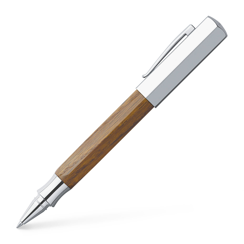 Ondoro Rollerball Pen - Smoked Oak Wood