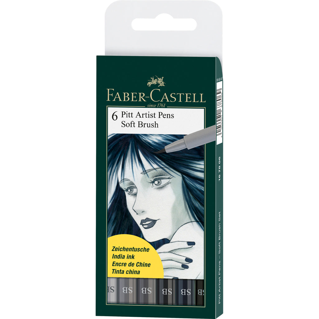 Pitt Artist Pen® Soft Brush - Wallet of 6 - #167806