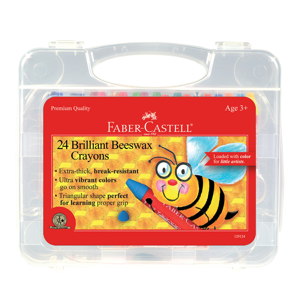 24 Brilliant Beeswax Crayons in Storage Case  - #129124