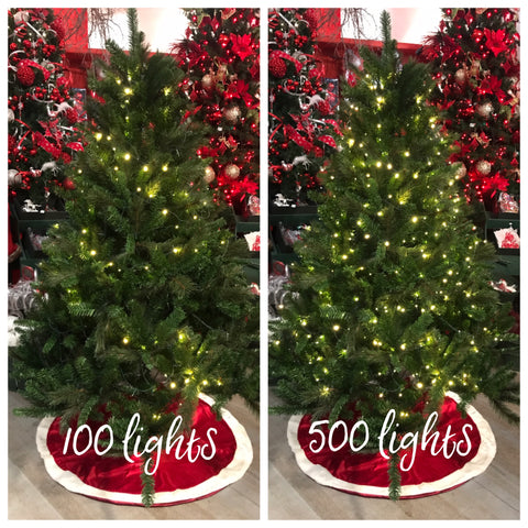 Christmas Tree Lights 100 vs 500