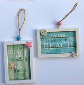 Beach Sign Ornament