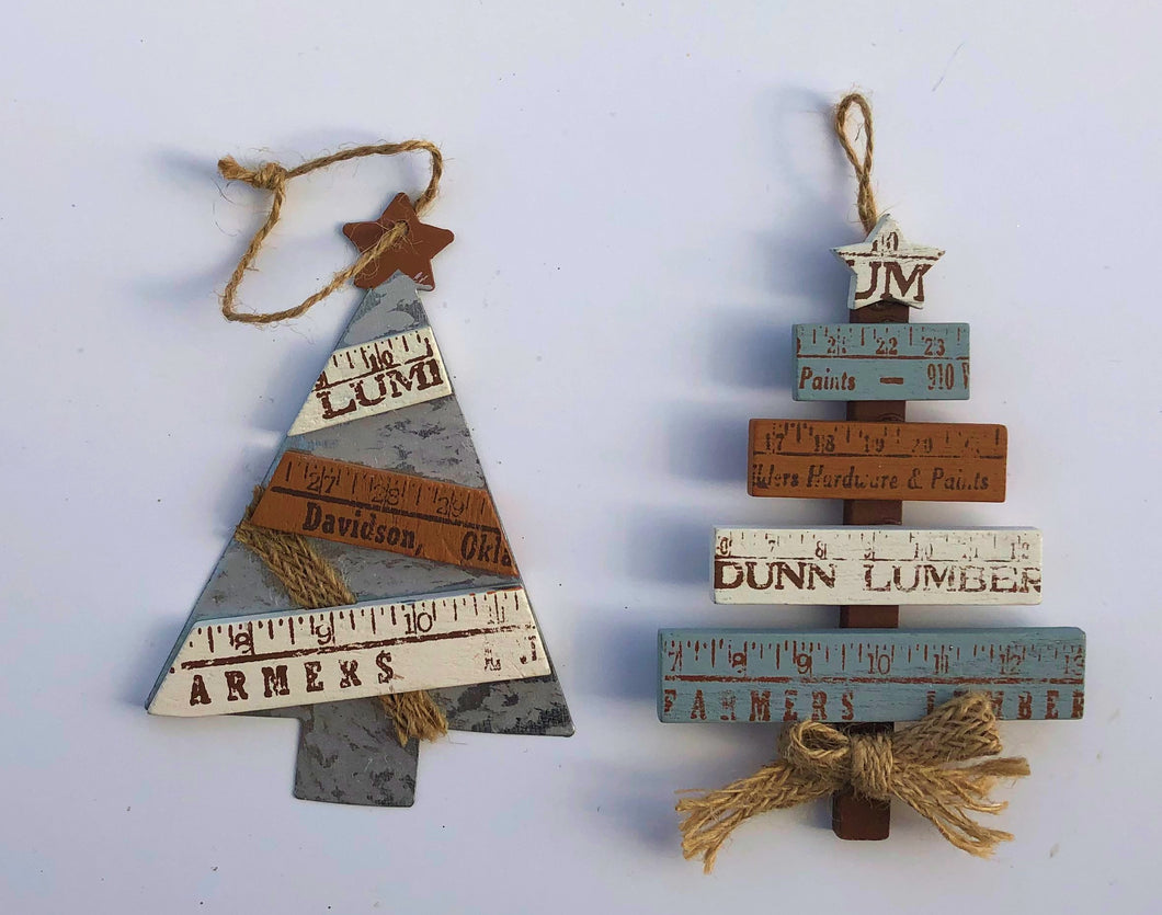 Rule Christmas Tree Ornaments
