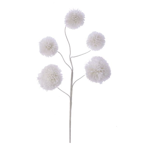 White Pom Pom Spray #C6959
