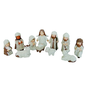 Mini Resin Nativity Set