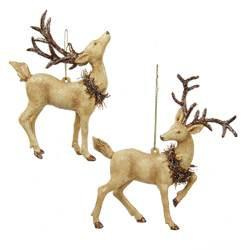 Reindeer with Wreath Ornament