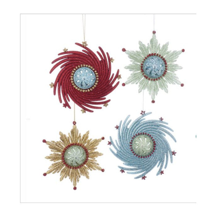 Retro Atomic Snowflakes Ornaments