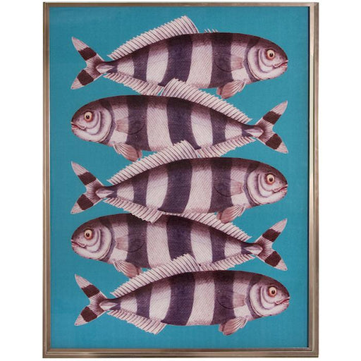 Teal Go Fish Wall Decor