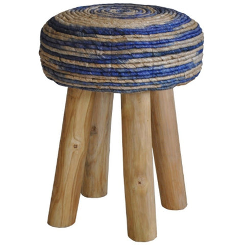 Picture of Bali Blue Round Stool
