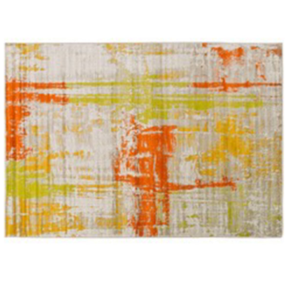 Jupiter Area Rug - Burnt Orange, Mustard, Dark Brown, Olive & Light Grey
