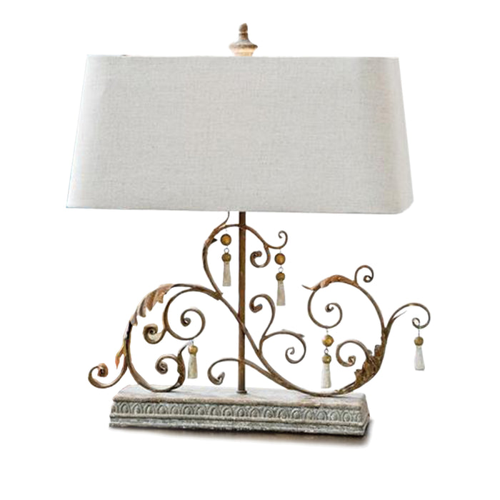 Iron scroll table lamp shelter furniture iron scroll table lamp aloadofball Images