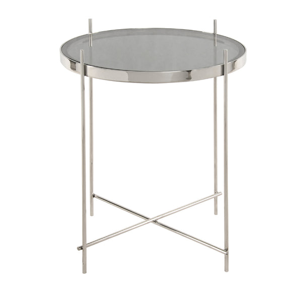 Tremain End Table - Stainless Steel