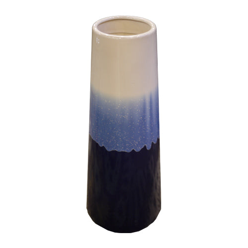 Blue & Off-White Vase