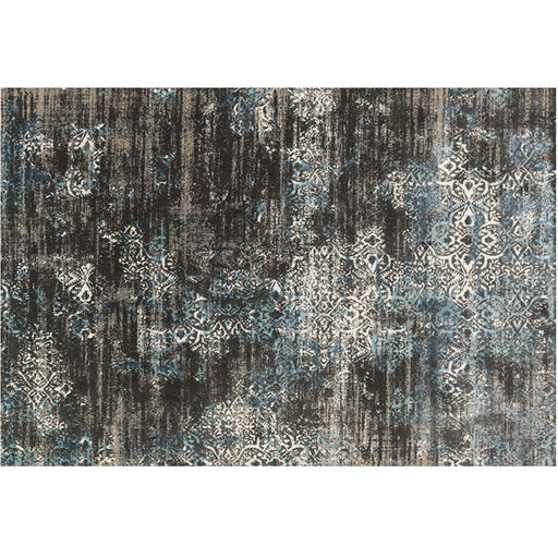 Kitchener Charcoal / Blue Area Rug