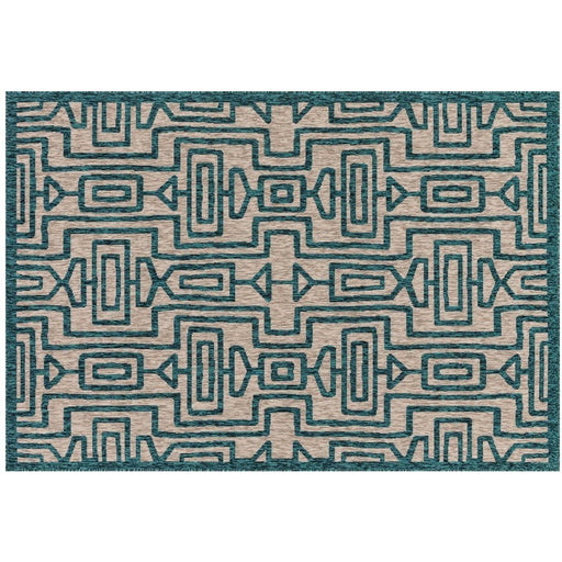 Newton Grey / Teal Area Rug