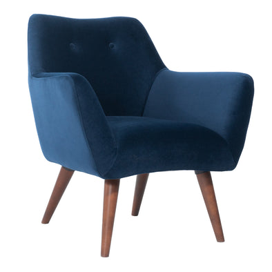 Kaspar Velvet Navy Chair