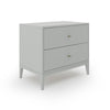 Akira 2 Drawer Wide Nightstand