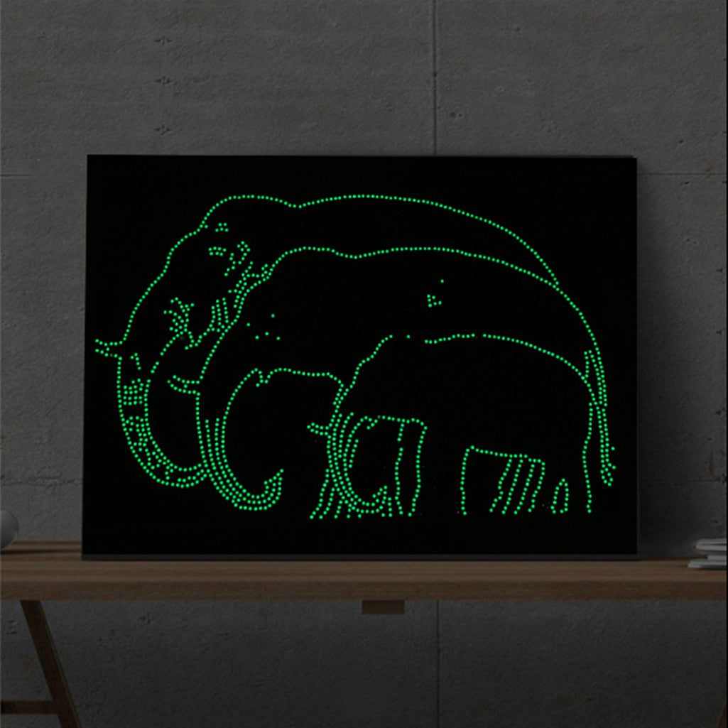 Glow in the Dark Elephant Family