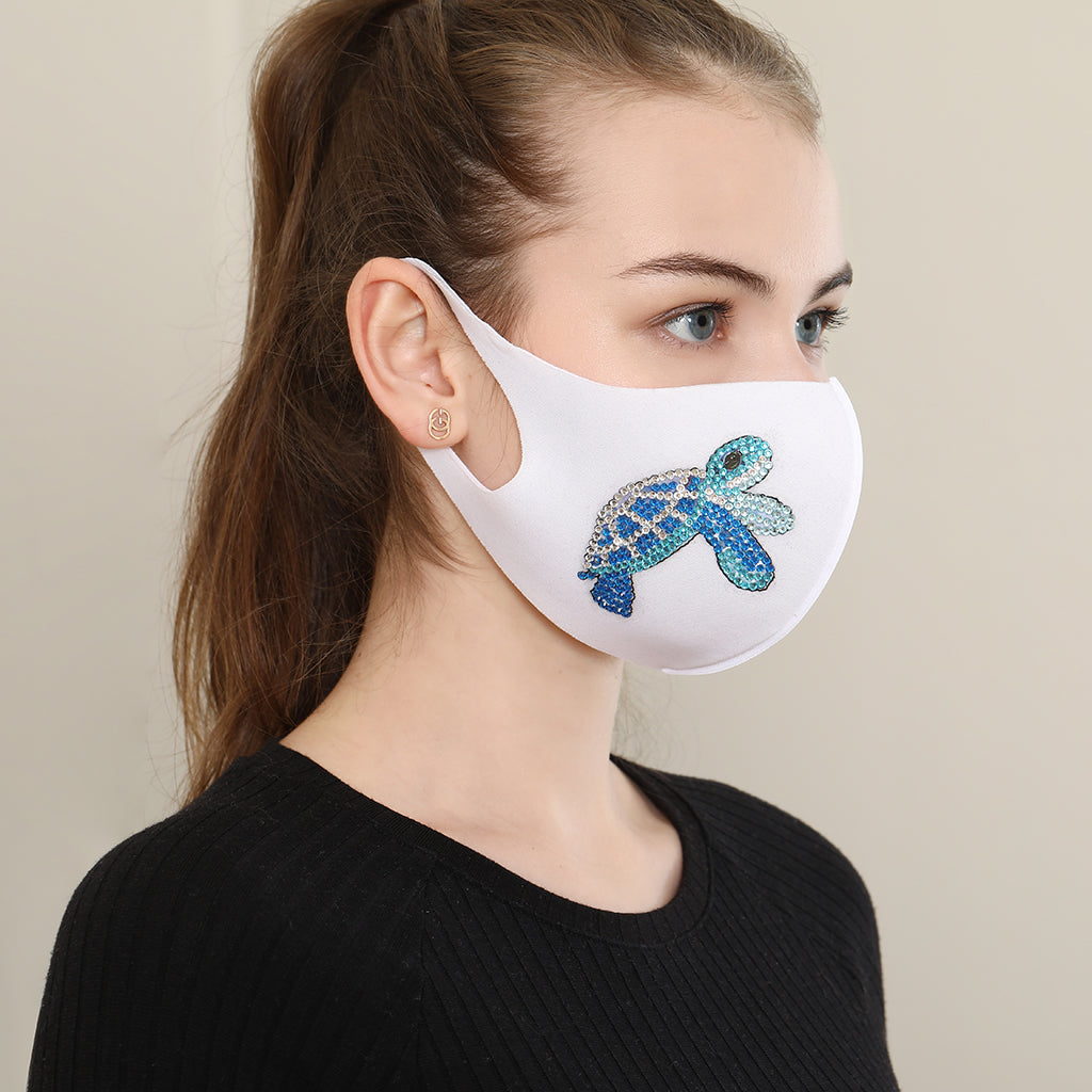 Blue Turtle Face Mask