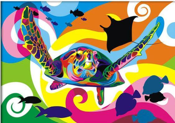 Colorful Flying Turtle