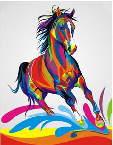 Colorful Running Horse-DIY Diamond Painting